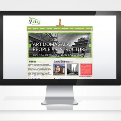 Sierra Arts Foundation | Web Development