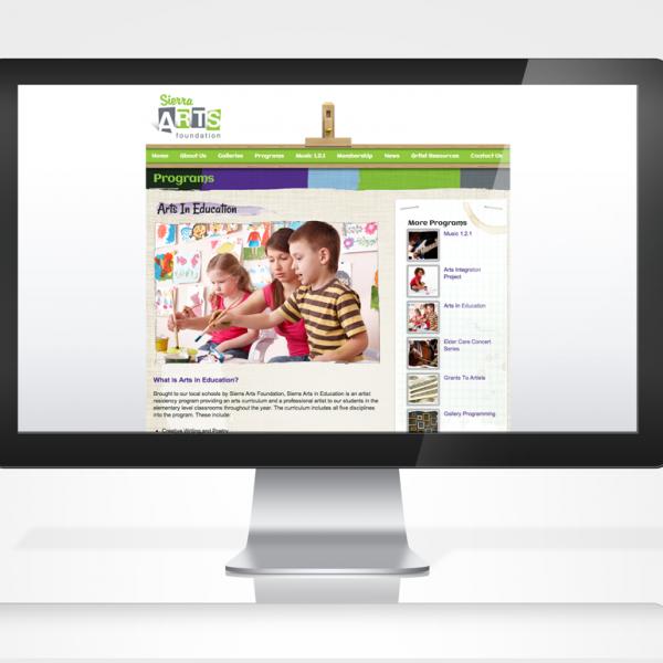 Sierra Arts Programs Page